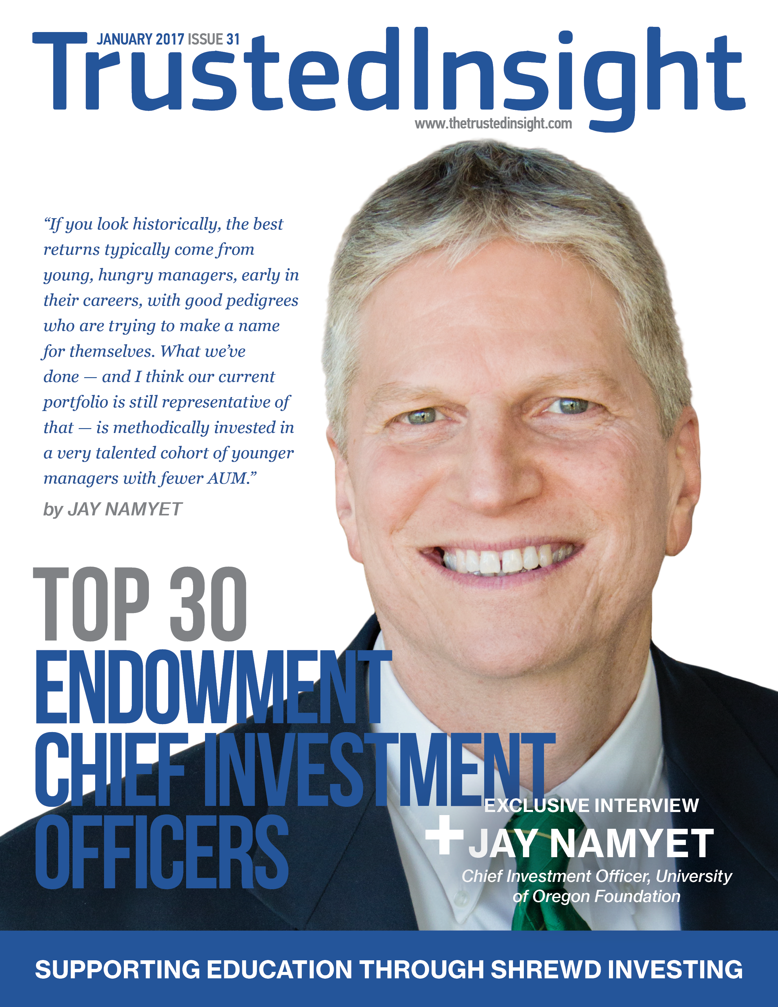 Trusted Insight | Top 30 Endowment Chief Investment Officers