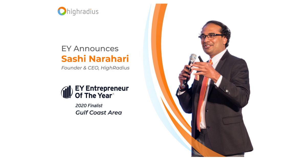 Access here alternative investment news about Ey Announces Sashi Narahari Of Highradius As An Entrepreneur Of The Year® 2020 Gulf Coast Area Award Finalist