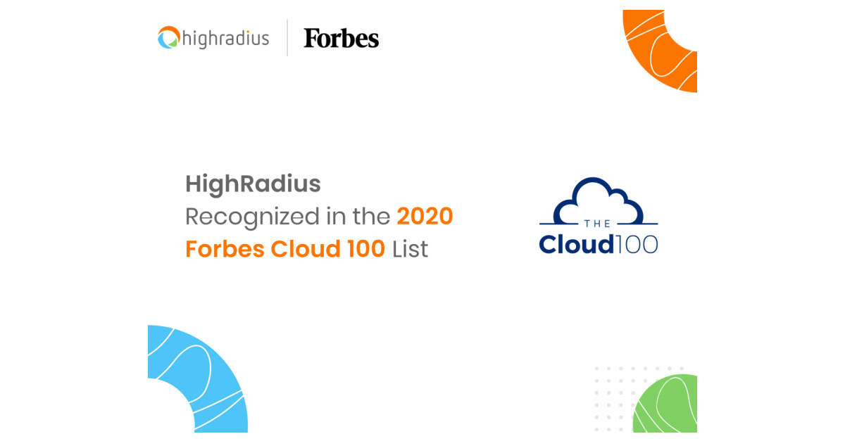 Access here alternative investment news about Highradius Is Named To The 2020 Forbes Cloud 100 List