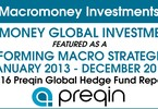 Access here alternative investment news about Macromoney is the top performing Macro Strategies Hedge Funds for 2013-15 by Preqin 2016 Report